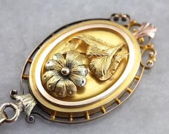 Stunning Victorian Mourning Locket, Antique Gold Pendant, Antique Gold Locket, Victorian Estate Jewelry, Victorian Mourning Jewelry 9MU4YL-P