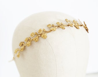 Tiny Rose Vine - A crown or headband of lovely tiny golden roses, Boho Headband, Crown, Halo, Flower Crown, Wedding, Bridal