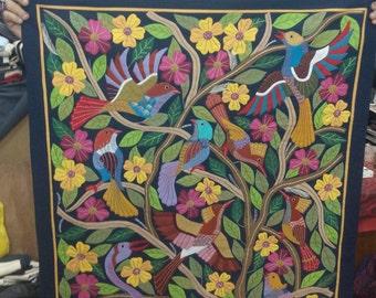 Tarek al Safty, Fabulous Birds w awesome CraneTentmaker Piece, Tentmakers of Cairo!