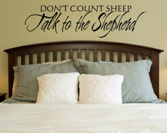 Vinyl Wall Decor Talk to the Shepherd 0009