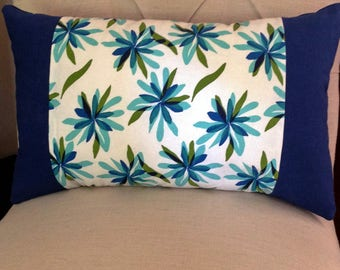 handmade pillow with a fun modern floral design.