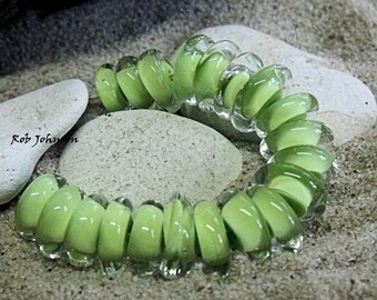 Limes, Artisan Lampwork Glass Beads