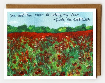 Wizard of Oz Card, Blank Card, Graduate, Congrats Grad, College Graduation, Congratulations Card, You Are Awesome, Graduation Card, Poppies
