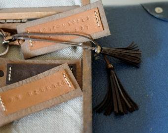 Leather Personalised Key Tag