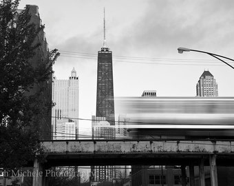 Chicago Cityscape Black & White Photography