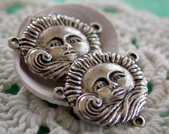 Metal Stampings, Sun Stampings, Brass Stampings, Findings, Jewelry Findings, Metal Charms STA-033