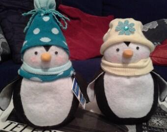 Penguin - Sock Penguin - Shelf Sitter -  Door Stop - Paper Weight - Personalised Penguin - Handmade - Penguin Ornament - Penguin Decoration