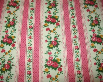 Vintage fabric or vintage, small roses