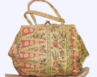 Vintage 1930s  Purse  .  30s handbag .  art deco