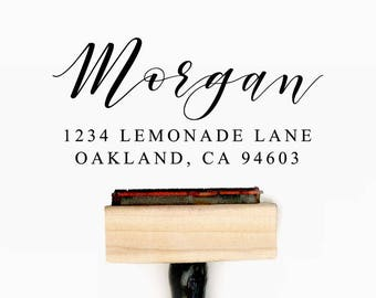 Custom Personalized Return Address Pre-Designed Rubber Stamp - Branding, Packaging, Invitations, Party, Wedding Favors - A018