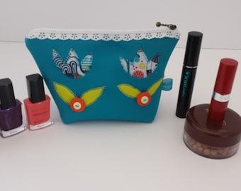 20% OFF   Appliqued Makeup bag /Pencil case