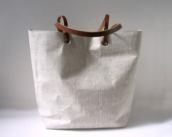 Simple Linen Tote Bag