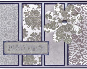 Wedding Card - Blue and Silver