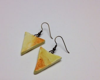 Summer Sundrenched Triagle Drop Earrings