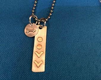 Arrow and Chevron Designed Pendant Necklace