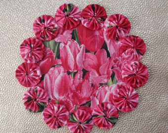 Pink Tulip Doily