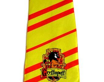Gryffinpuff Cross-House Crest Necktie