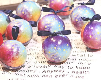 Night Sky Star Favor Ball Shape Boxes Party Boxes Birthday Gift Boxes Party Favor Boxes Birthday Favor Boxes (set of 20)