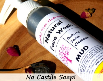 Natural Face Wash/Cleanser/ MUD / Baking Soda Face Wash - No castile Soap - Natural Handmade Skin Care