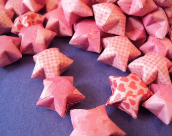 Medium Bag of Origami Wishing Stars with Customizable Messages