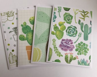 cactus cards, succulent patterns, plant blank cards, botanical thank you cards, note cards, gift cards, Cactus stationery
