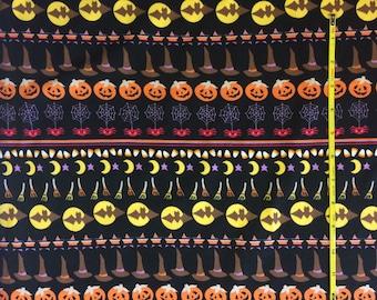 "Halloween Stripe on cotton lycra knit fabric 58"" wide"