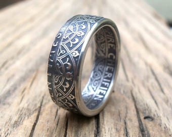 Morocco 25 Centimes Coin Ring (1921-1924) - Souvenir from Morocco - Moroccan jewelery - Free shipping