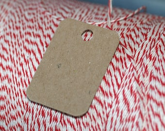 """Mini Chipboard Tags (100) ... 1.25"""" x 1.75"""" Rounded Corners Lightweight Product Tags Price Tags Small Hang Tags Kraft Paper Tags Supplies"""