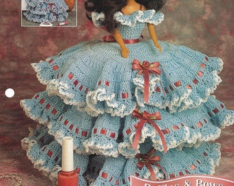 Ruffles & Bows Trinket Box Crochet Pattern for Barbie or Fashion Dolls - Annie's Fashion Doll Crochet Club  NEW PATTERN by Virginia Zartman
