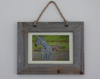Framed Zebra Print, Zebra Wall Art, Zebra Gifts, Zebra Art Print, Ready Framed Art, Wildlife Art Print, African Wildlife, Animal Wall Art