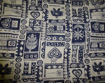 NO. 33-FABRIC COTTON LINEN COLOR NAVY AND BEIGE