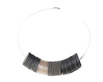 Recycled black plastic collar