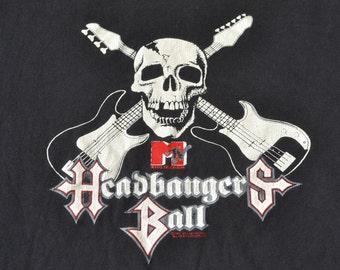 1991 Headbangers Ball MTV Shirt T-Shirt maat L 90 's metalen t-stukoverhemd dood hardrock Danzig Megadeth Metallica Ozzy