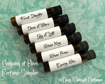 Company of Elves Perfume Sampler Set - Inspired by The HOBBIT - Lord of the Rings - Middle Earth