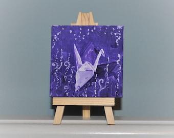 Mini Origami Crane Painting