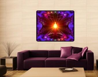 "Huge Chakra Art, Meditation Yoga Reiki Tapestry 40"" x 50"" ""The Protector"""