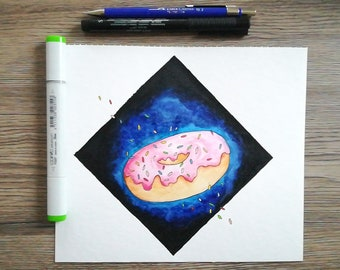 donut and galaxies