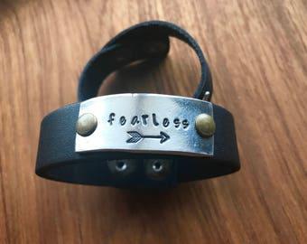 Personalized Leather Cuff-Custom Cuff-Leather cuff-Custom leather cuff-Boho leather cuff-Resist leather cuff