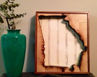 Reclaimed Wood State Cut-outs and Outlines.  Any state you want!