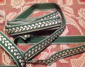 Vintage green and white stripe, 70's