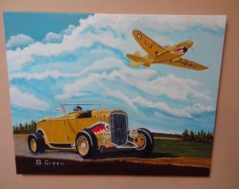 Hotrod & Plane