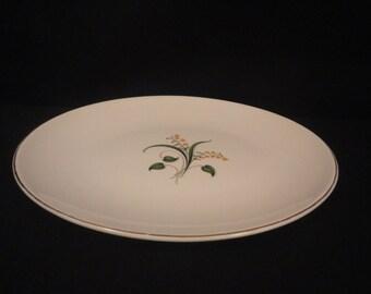 """Vintage Knowles Forsythia 12-5/8"""" Oval Serving Platter Plate"""