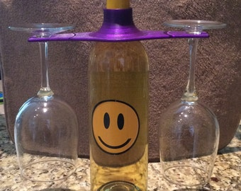 Wine caddy, 3D printed, Made in USA, bridesmade gift, mothers day gift