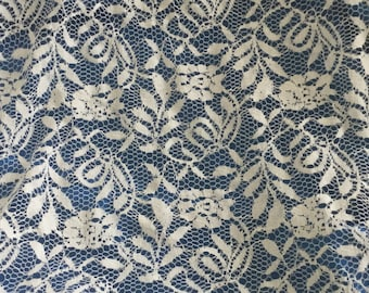 Fabric width 160 cm white lace