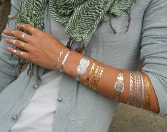 Ocean Jewelry, Ocean Tattoos, Ocean Bracelets, Beach Jewelry, Bracelets for te Beach, Temporary Metallic Tattoos, Temporary Tattoos