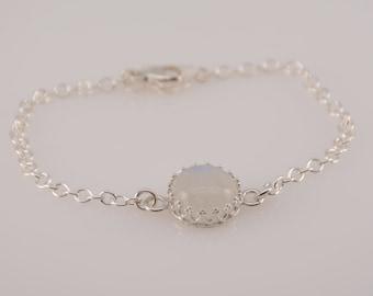 Rainbow Moonstone bracelet. Large Moonstone bracelet. Sterling silver Moonstone bracelet