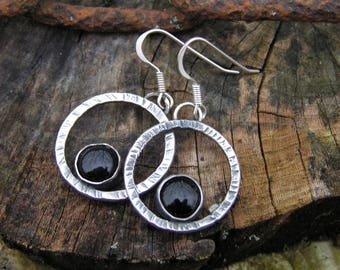 Onyx Sterling Silver earring with Natural onyx