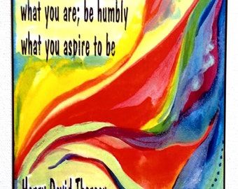 Be Resolutely & Faithfully THOREAU Authencity Inspirational Quote Motivational Print Spiritual Meditation Heartful Art by Raphaella Vaisseau