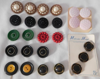 vintage BUTTON LOT 26 medium