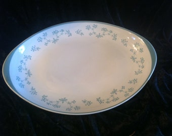 Queenslace Royal Doulton platter blue floral